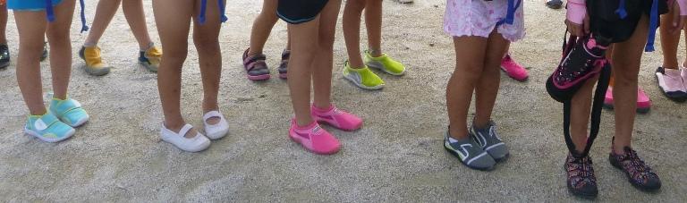 替えの運動靴(濡れてもいい靴)はどんなものがいいですか?